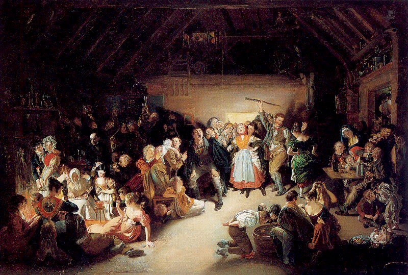 Snap-Apple Night, painted by Daniel Maclise in 1833.